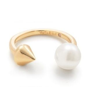 Pearl Spike Split ring